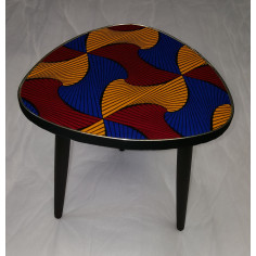Table Wax bleu avec coeur