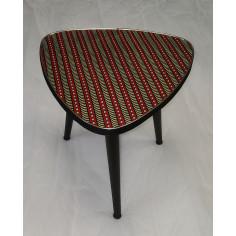 Table Wax rouge et bleu avec rond