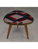 Table Wax rouge et bleu zigzag