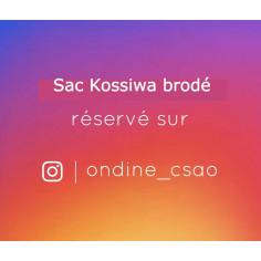 Sac Kossiwa brodé réservé sur Insta