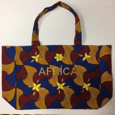 Sac Wax Kossiwa brodé AFRICA