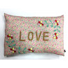Coussin brodé liberty LOVE
